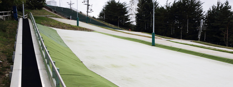 Snowflex where on begins to ski