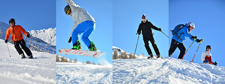Images of club holiday on snow