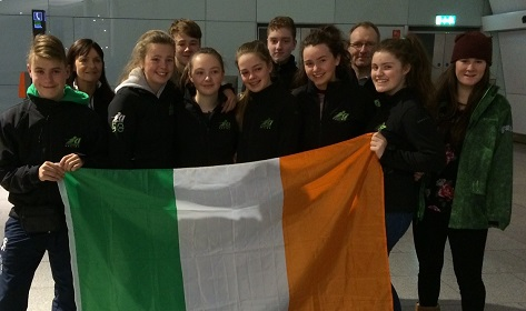 Irish Under 14's & 16's Ski race team