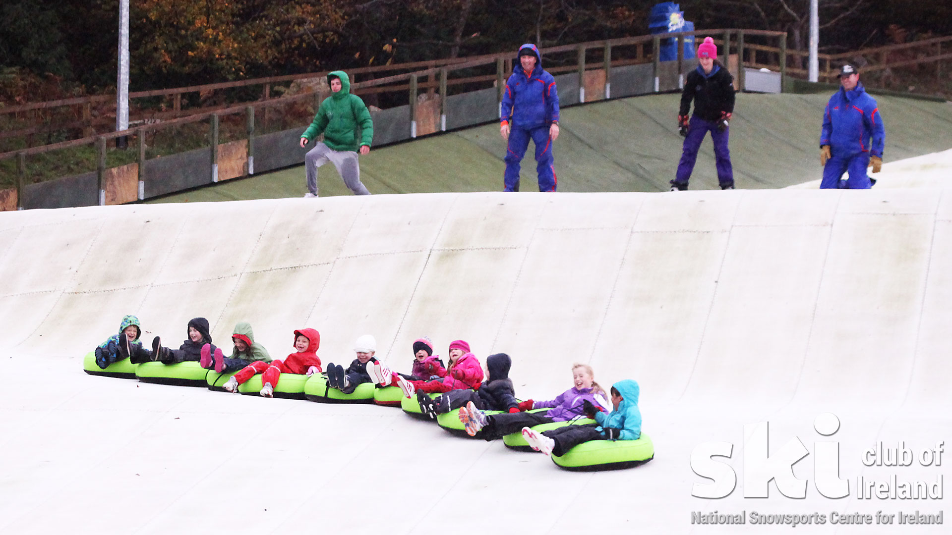 tubing together, what great fun