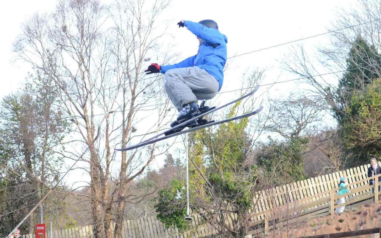 Mid air jump on World Snow Day