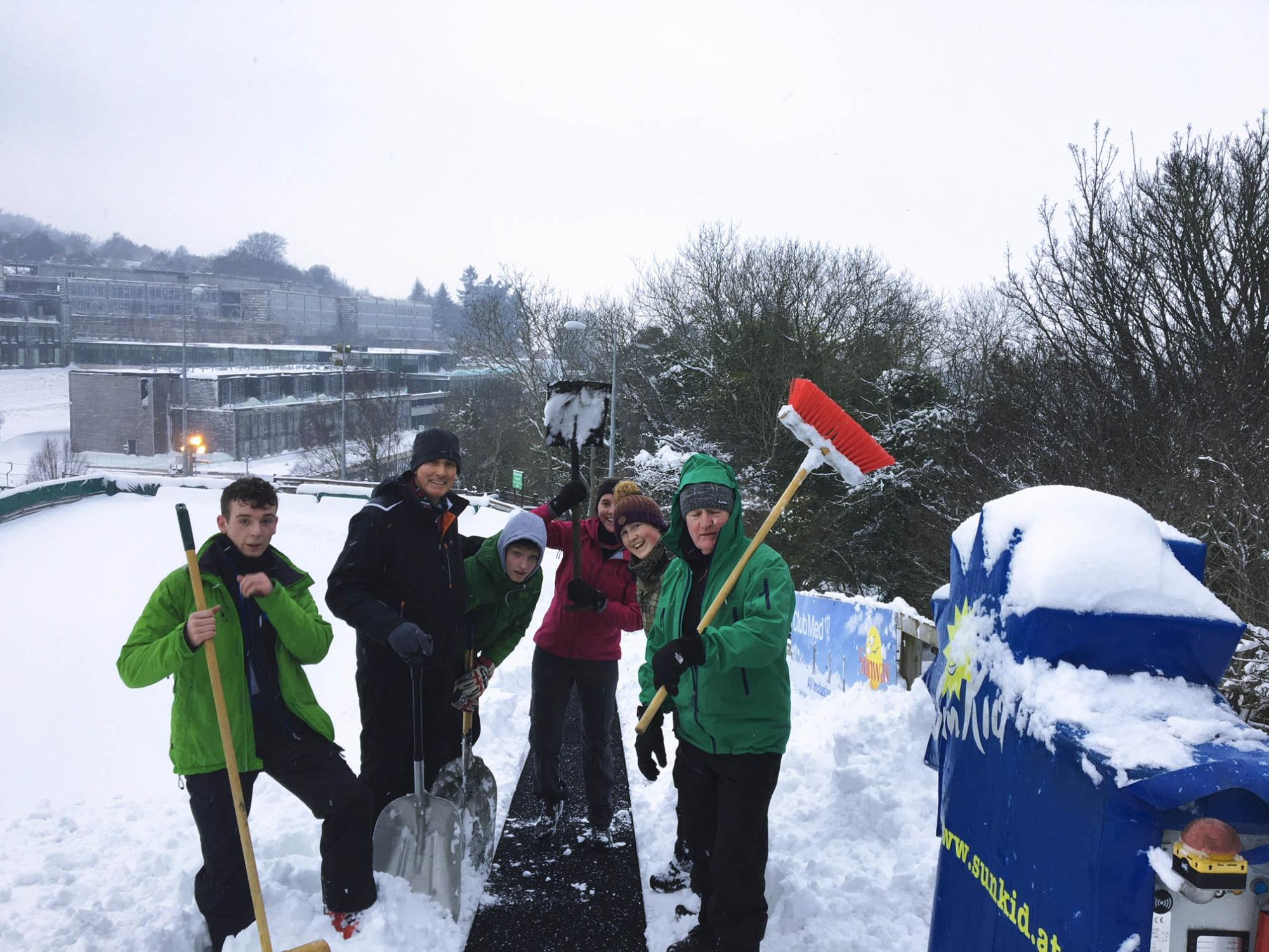Hard at work clearing the snow