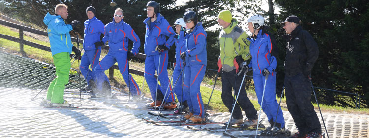 Instructor training at the Ski Club of Ireland Kilternan