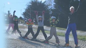 kindergarten skiing on Sundays