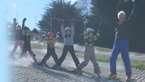 kindergarten skiing on Sundays