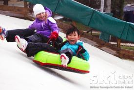 Tubing party at Ski Club of Ireland